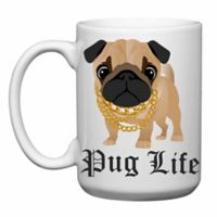 "Love You a Latte Shop ""Pug Life"" Mug"