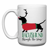 "Love You a Latte Shop ""Dachshund Through the Snow"" Mug"