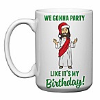 "Love You a Latte Shop ""We Gonna Party Like It's my Birthday"" Jesus Mug in White"