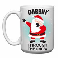 "Love You a Latte Shop ""Dabbin' Through the Snow"" Santa Mug"