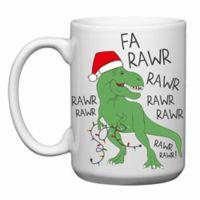 Love You a Latte Shop Christmas Dinosaur Fa Rawr Mug