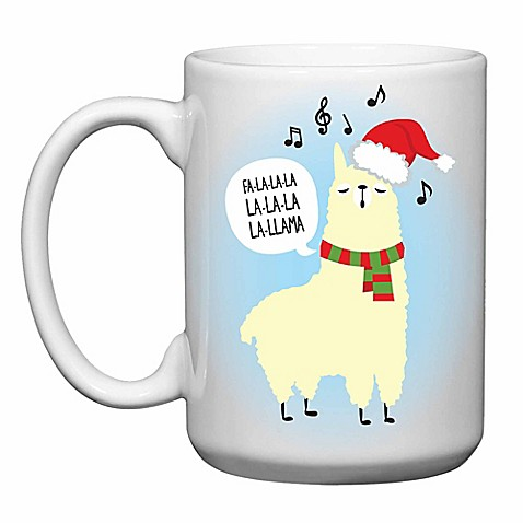 Love you a latte shop christmas fa la la llama mug bed bath beyond love you a latte shop christmas fa la la llama mug sciox Images