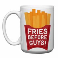 "Love You a Latte Shop ""Fries Before Guys"" Mug"
