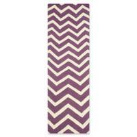 Safavieh Cambridge 2-Foot 6-Inch x 8-Foot Zoe Wool Rug in Purple/Ivory