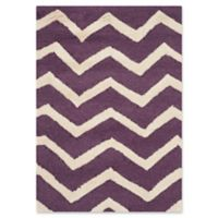 Safavieh Cambridge 3-Foot x 5-Foot Zoe Wool Rug in Purple/Ivory