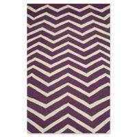 Safavieh Cambridge 6-Foot x 9-Foot Zoe Wool Rug in Purple/Ivory