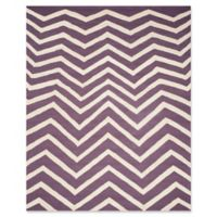 Safavieh Cambridge 8-Foot x 10-Foot Zoe Wool Rug in Purple/Ivory
