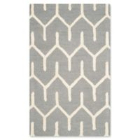 Safavieh Cambridge 4-Foot x 6-Foot Elena Wool Rug in Dark Grey/Ivory