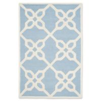 Safavieh Cambridge 4-Foot x 6-Foot Chloe Wool Rug in Blue/Ivory