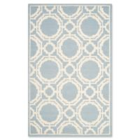 Safavieh Cambridge 4-Foot x 6-Foot Mila Wool Rug in Blue/Ivory