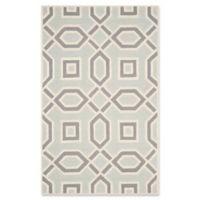 Safavieh Cambridge 5-Foot x 8-Foot Maddy Wool Rug in Grey/Ivory