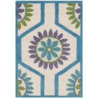 Safavieh Cambridge 2-Foot x 3-Foot Mia Wool Rug in Ivory and Blue