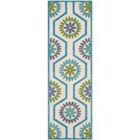 Safavieh Cambridge 2-Foot 6-Inch x 8-Foot Mia Wool Rug in Ivory and Blue