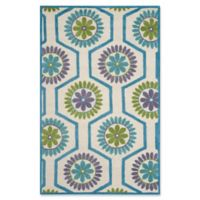 Safavieh Cambridge 5-Foot x 8-Foot Mia Wool Rug in Ivory and Blue