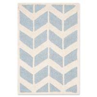 Safavieh Cambridge 2-Foot x 3-Foot Aria Wool Rug in Blue/Ivory