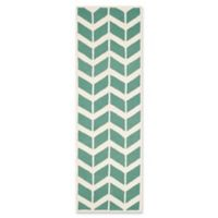 Safavieh Cambridge 2-Foot 6-Inch x 8-Foot Aria Wool Rug in Teal/Ivory