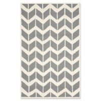 Safavieh Cambridge 6-Foot x 9-Foot Aria Wool Rug in Dark Grey/Ivory