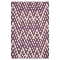 Safavieh Cambridge 4-Foot x 6-Foot Olivia Wool Rug in Purple/Ivory