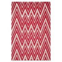 Safavieh Cambridge 6-Foot x 9-Foot Olivia Wool Rug in Red/Ivory