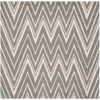 Safavieh Cambridge 8-Foot x 8-Foot Olivia Wool Rug in Dark Grey/Ivory