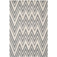 Safavieh Cambridge 9-Foot x 12-Foot Olivia Wool Rug in Dark Grey/Ivory