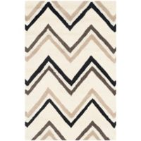 Safavieh Cambridge 2-Foot x 3-Foot Lauren Wool Rug in Ivory/Black
