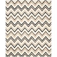 Safavieh Cambridge 9-Foot x 12-Foot Lauren Wool Rug in Ivory/Black