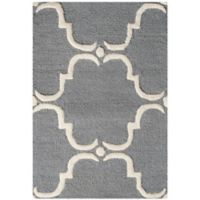 Safavieh Cambridge 2-Foot 6-Inch x 4-Foot Diana Wool Rug in Dark Grey/Ivory