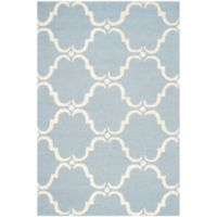 Safavieh Cambridge 4-Foot x 6-Foot Diana Wool Rug in Blue/Ivory