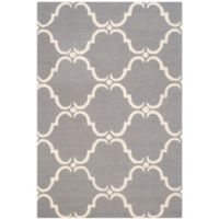 Safavieh Cambridge 4-Foot x 6-Foot Diana Wool Rug in Dark Grey/Ivory
