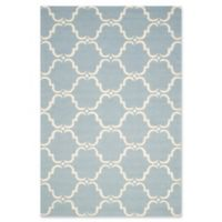 Safavieh Cambridge 5-Foot x 8-Foot Diana Wool Rug in Blue/Ivory