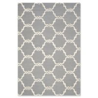 Safavieh Cambridge 5-Foot x 8-Foot Diana Wool Rug in Dark Grey/Ivory