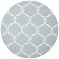 Safavieh Cambridge 6-Foot x 6-Foot Diana Wool Rug in Blue/Ivory