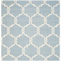 Safavieh Cambridge 6-Foot x 6-Foot Diana Wool Rug in Blue/Ivory