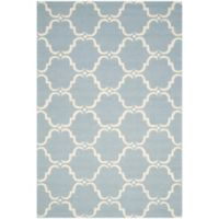 Safavieh Cambridge 6-Foot x 9-Foot Diana Wool Rug in Blue/Ivory