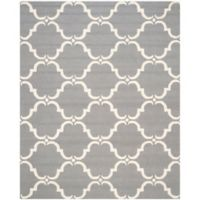 Safavieh Cambridge 9-Foot x 12-Foot Diana Wool Rug in Dark Grey/Ivory