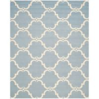 Safavieh Cambridge 9-Foot x 12-Foot Diana Wool Rug in Blue/Ivory