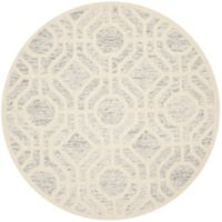 Safavieh Cambridge 6-Foot x 6-Foot Harper Wool Rug in Light Grey/Ivory