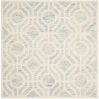 Safavieh Cambridge 6-Foot x 6-Foot Harper Wool Rug in Light Blue/Ivory