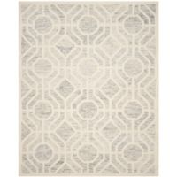 Safavieh Cambridge 8-Foot x 10-Foot Harper Wool Rug in Light Grey/Ivory
