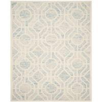 Safavieh Cambridge 8-Foot x 10-Foot Harper Wool Rug in Light Blue/Ivory