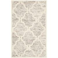 Safavieh Cambridge 3-Foot x 5-Foot Sloane Wool Rug in Light Brown/Ivory