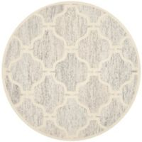 Safavieh Cambridge 6-Foot x 6-Foot Sloane Wool Rug in Light Grey/Ivory