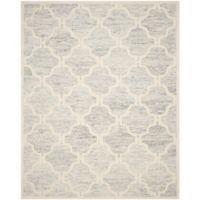 Safavieh Cambridge 8-Foot x 10-Foot Sloane Wool Rug in Light Grey/Ivory