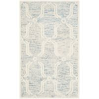 Safavieh Cambridge 3-Foot x 5-Foot Emily Wool Rug in Light Blue/Ivory