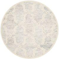 Safavieh Cambridge 6-Foot x 6-Foot Emily Wool Rug in Light Grey/Ivory
