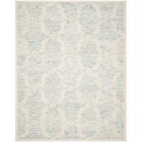 Safavieh Cambridge 8-Foot x 10-Foot Emily Wool Rug in Light Blue/Ivory