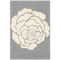 Safavieh Cambridge 2-Foot x 3-Foot Molly Wool Rug in Dark Grey/Ivory