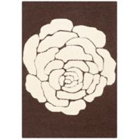 Safavieh Cambridge 2-Foot x 3-Foot Molly Wool Rug in Brown/Ivory