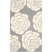 Safavieh Cambridge 3-Foot x 5-Foot Molly Wool Rug in Dark Grey/Ivory